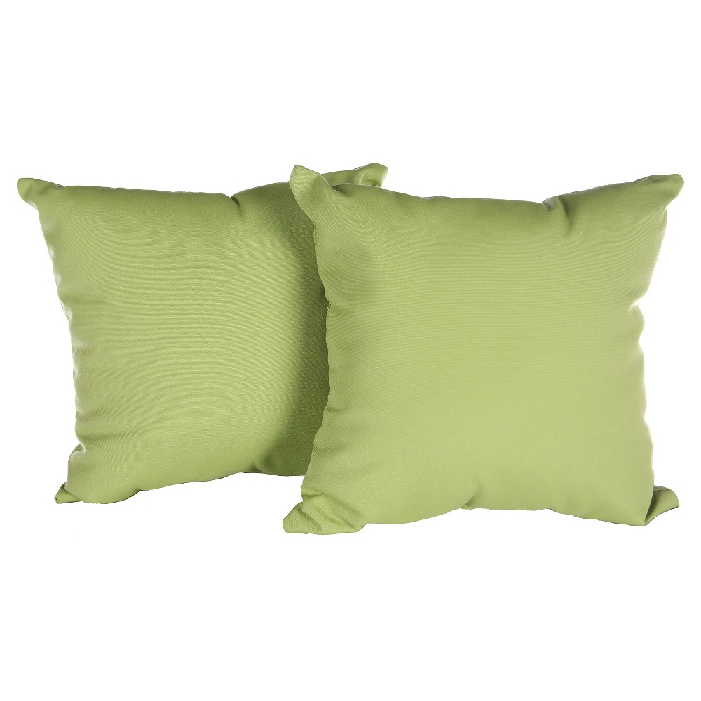Image of Pillow in Canvas - Gingko - AE Outdoor, Yellow