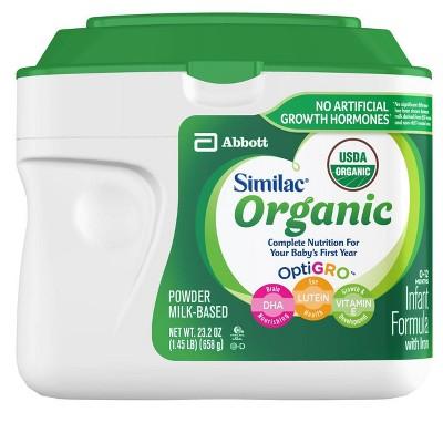 Similac Organic Non-GMO Infant Formula with Iron Powder 23.2oz
