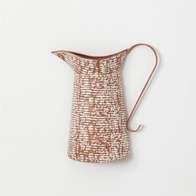 "Sullivans Tall Speckled Wall Pitcher Vase 12.75""H Brown"