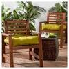 Set of 2 Solid Outdoor Seat Cushions - Kensington Garden - image 2 of 4