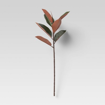 "28"" x 10"" Artificial Rubber Tree Stem with Leaves - Threshold™"
