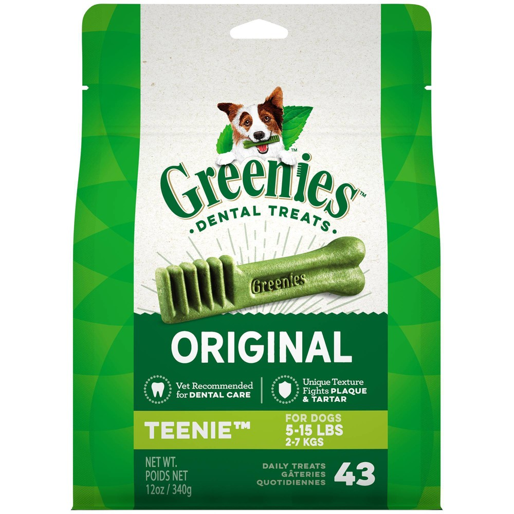 Greenies Teenie Original Dental Dog Treats 43ct 12oz