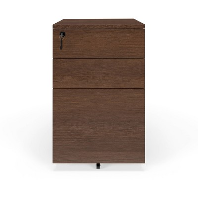 Basyx Mobile Wooden Pedestal Filing Cabinet Toasted Walnut - HON