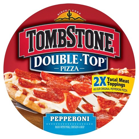 Tombstone Double Top Pepperoni Frozen Pizza - 23.7oz - image 1 of 1