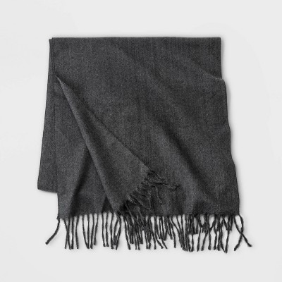 Men's Brushed Woven Scarf - Goodfellow & Co™ Charcoal Heather One Size