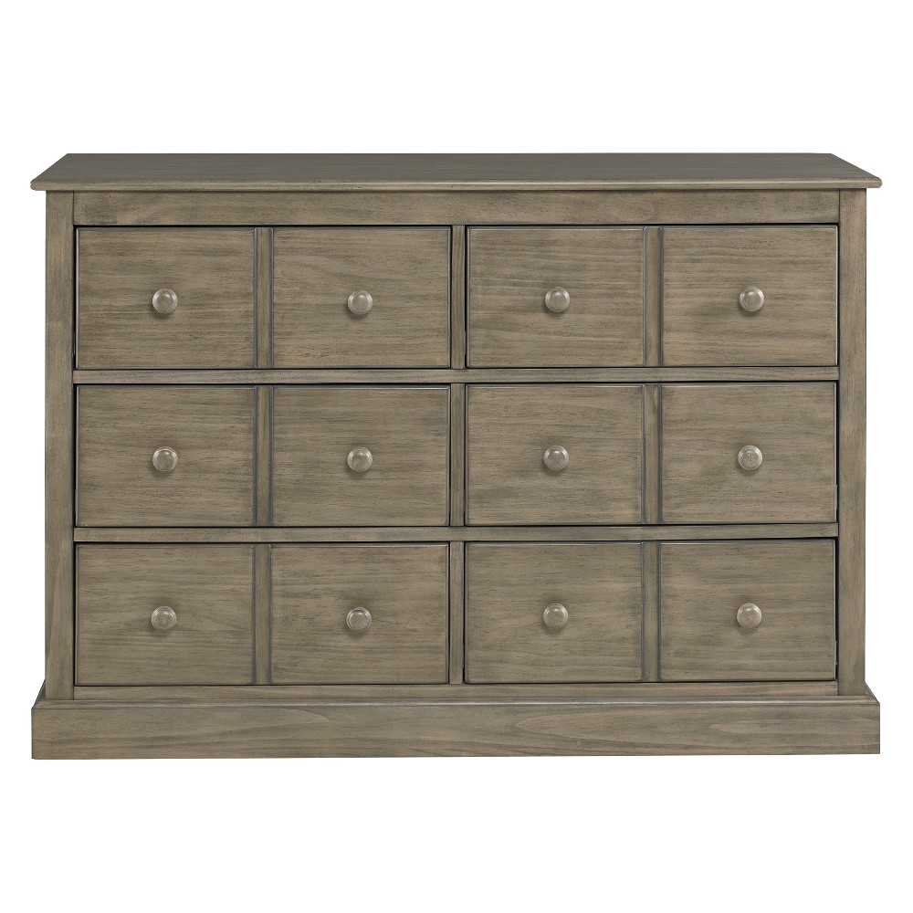Fisher-Price 6-Drawer Double Dresser - Vintage Gray
