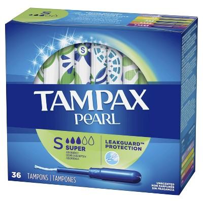 Tampax Pearl Super Absorbency Tampons : Target