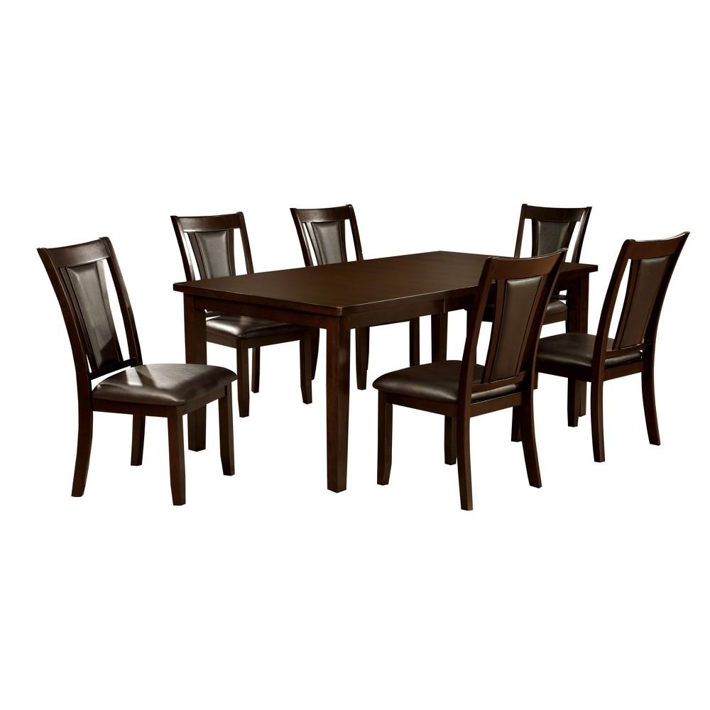 ioHomes 7pc Top Dining Table Set Wood/Dark Cherry