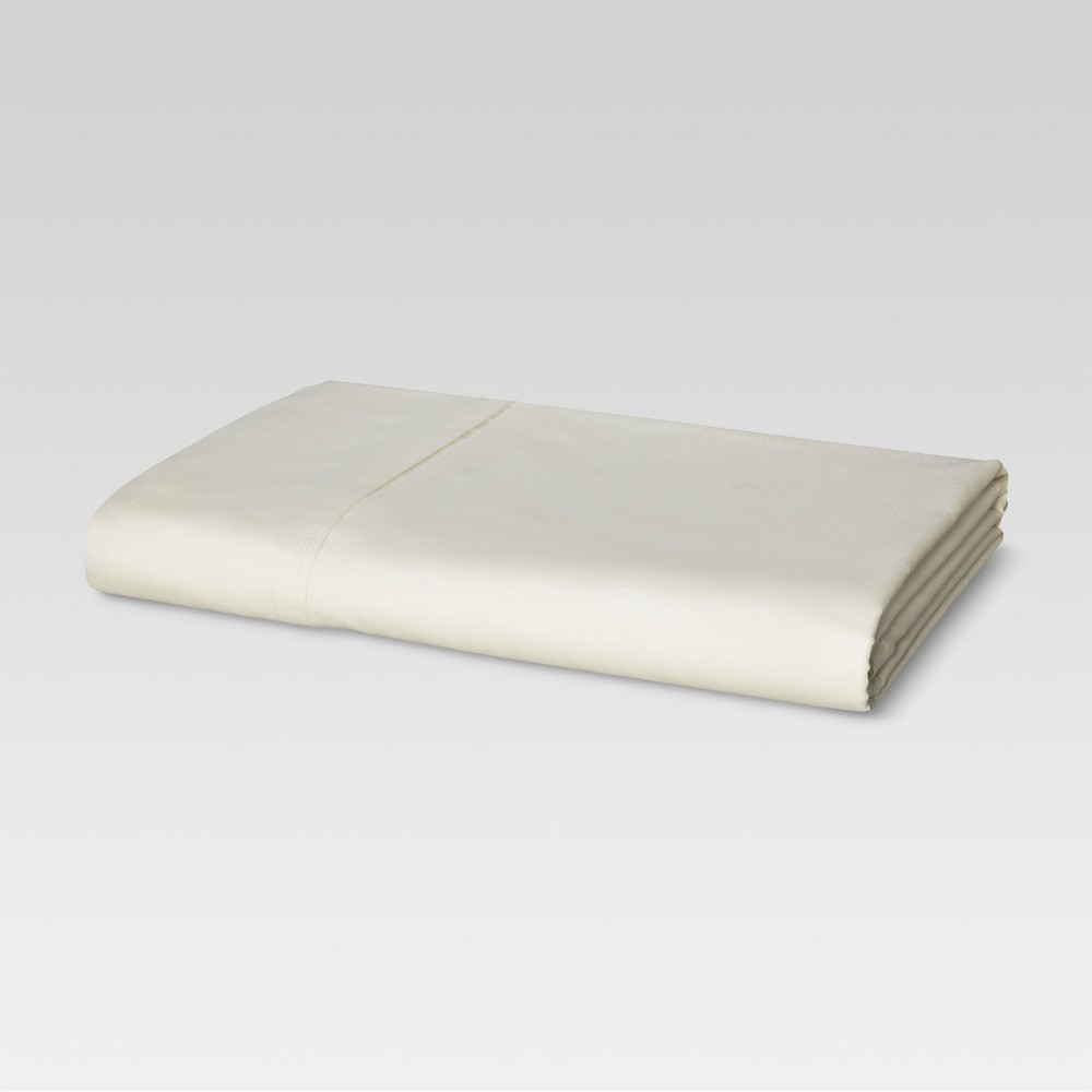 Ultra Soft Flat Sheet (Queen) Ivory 300 Thread Count - Threshold