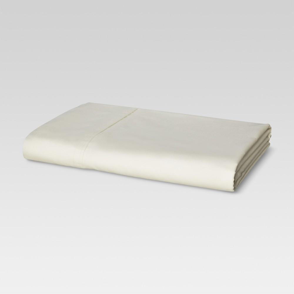 Ultra Soft Flat Sheet (Full) Ivory 300 Thread Count - Threshold