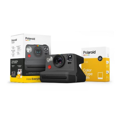 Polaroid Now Camera and Film Bundle - Black