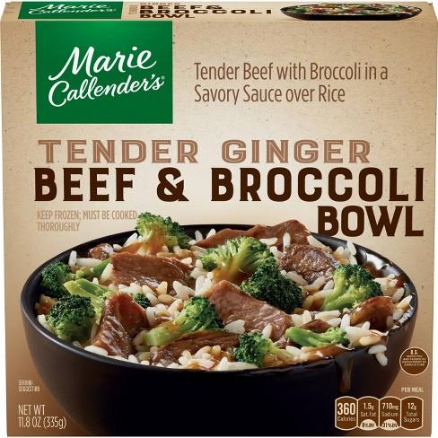 Marie Callender's Frozen Tender Ginger Beef & Broccoli Bowl - 11.8oz - image 1 of 3