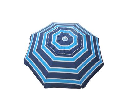 7' Beach Umbrella with Travel Bag - Navy/Aqua - Parasol