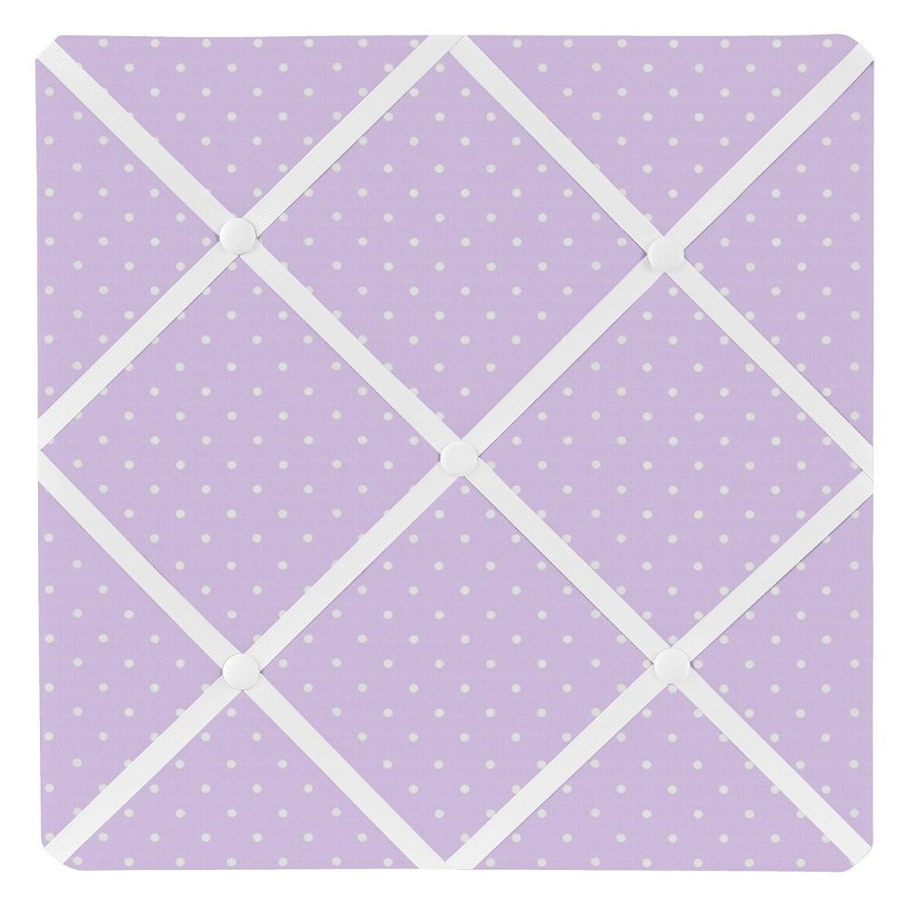 Purple Mod Dot Photo Memo Board (13x13) - Sweet Jojo Designs