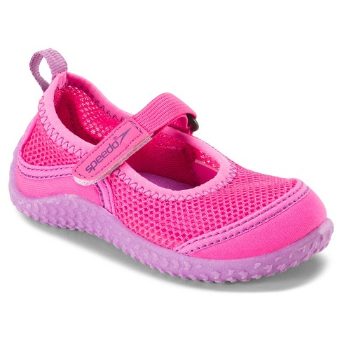 ae455d7a39f5 Speedo Toddler Kids Mary Jane Water Shoes - Pink (Small)   Target