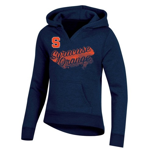 NCAA Syracuse Orange Girl's Long Sleeve Split Neck Hoodie - image 1 of 2
