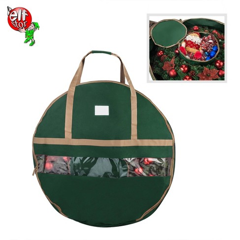 """Elf Stor Ultimate Green Holiday Christmas Storage Bag for 48"""" Wreath - image 1 of 2"""