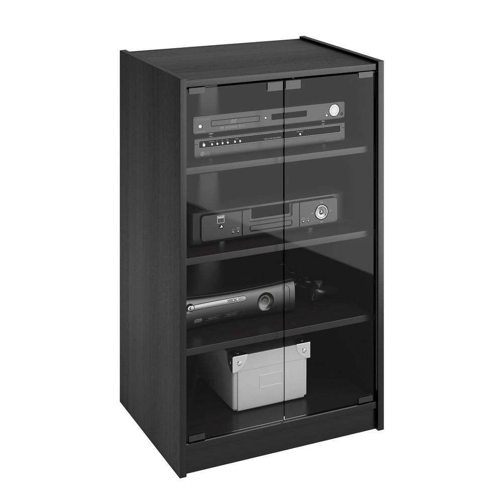 Media Storage Cabinet CorLiving Ravenwood Black