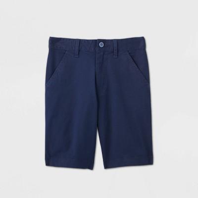 Boys' Flat Front Stretch Uniform Shorts - Cat & Jack™ Navy