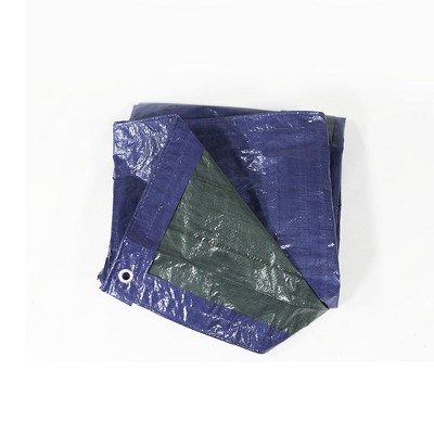 Sunnydaze Decor Waterproof Multi-Purpose Poly Tarp, 8-Feet by 10-Feet  - Blue and Green