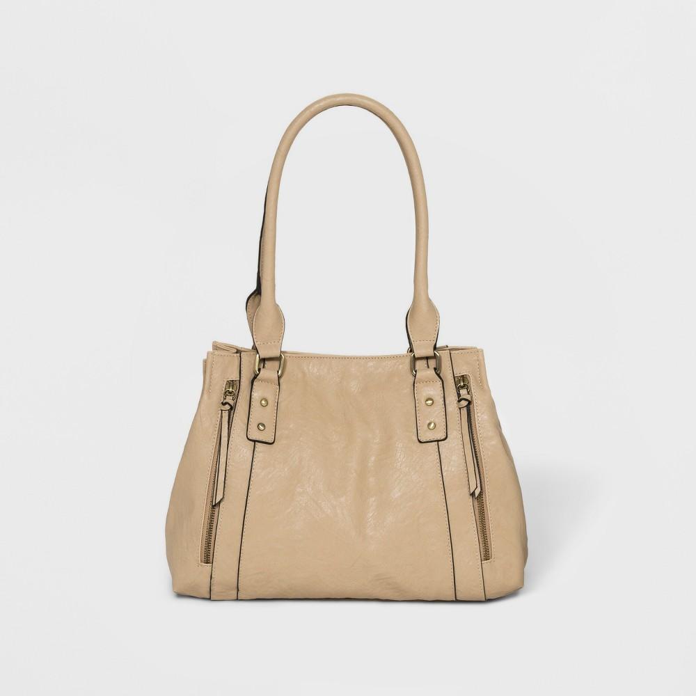 Bueno Veg Tan Sand Hobo Handbag - Bone (Ivory), Women's, Size: Small
