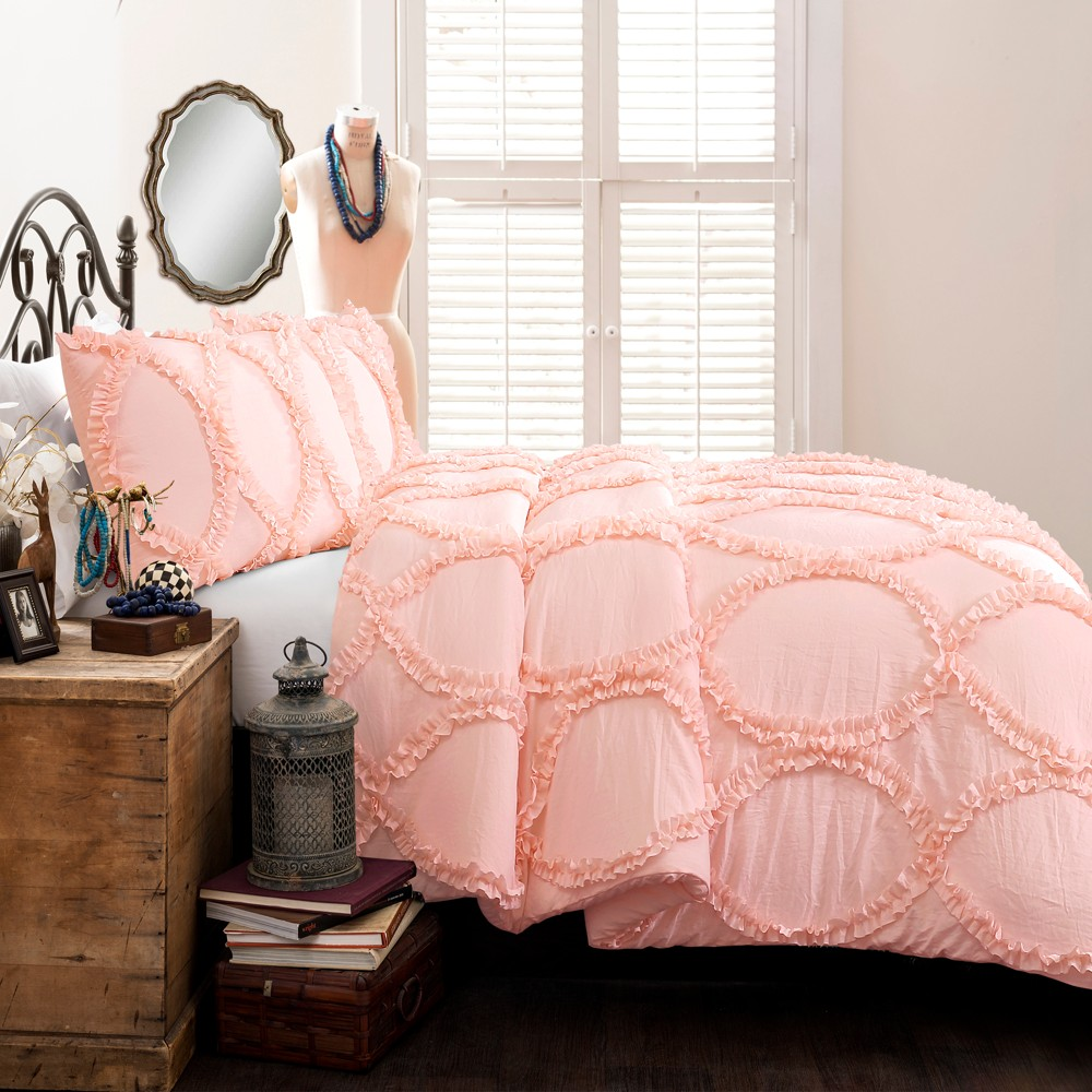 Image of 2pc Twin Avon Comforter Set Pink - Lush Décor