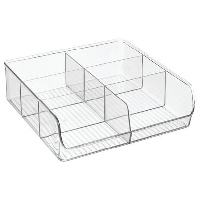 mDesign Plastic Home Office Storage Organizer Caddy, 6 Sections - Clear