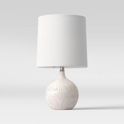 Medium Assembled Ceramic Table Lamp (Includes LED Light Bulb)Gray - Threshold™