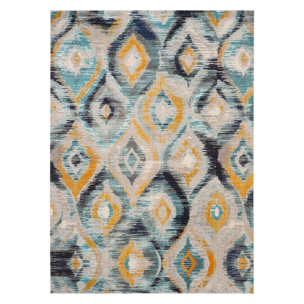 8'X10' Shapes Area Rug Blue - Safavieh, Blue/Multi-Colored