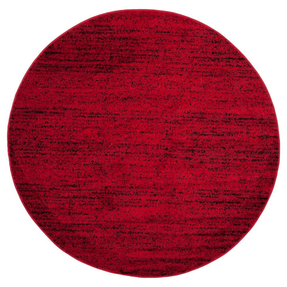 Adirondack Rug - Red/Black - (6'x6' Round) - Safavieh