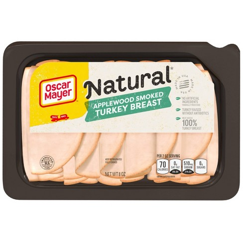 Oscar Mayer Natural Applewood Smoked Turkey Breast - 8oz - image 1 of 4