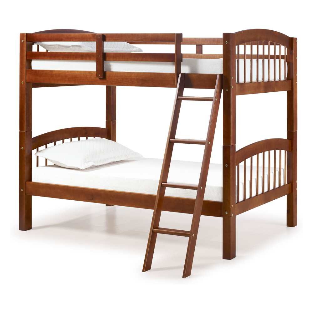 Spindle Twin Over Twin Bunk Bed Chestnut (Brown) - Bolton Furniture