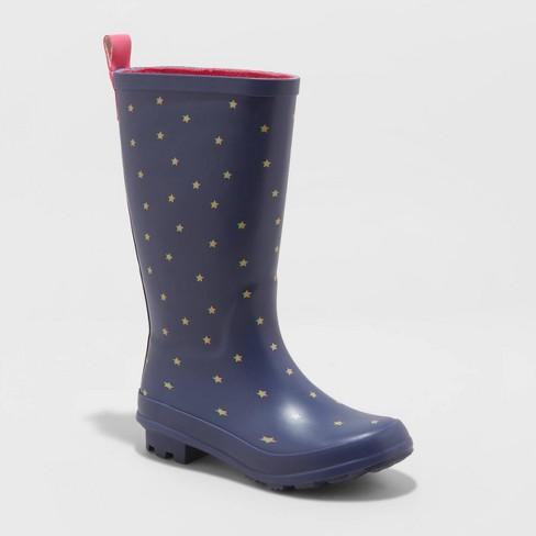 navy girls boots