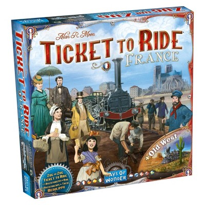 Ticket to Ride: France/Old West Map 6 Board Game