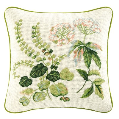 """C&F Home Colonial Williamsburg 14"""" x 14"""" Fern Needlepoint Pillow"""