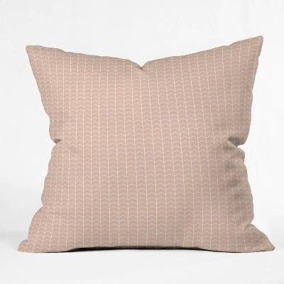 "18""x18"" Little Arrow Design Co Boreas Chevron Square Throw Pillow Pink - Deny Designs"
