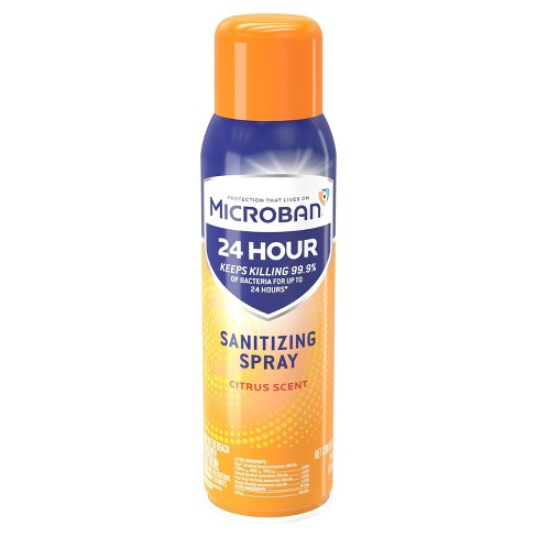 Microban 24 Hour Disinfectant Sanitizing Spray - Citrus Scent - 15 fl oz - image 1 of 3