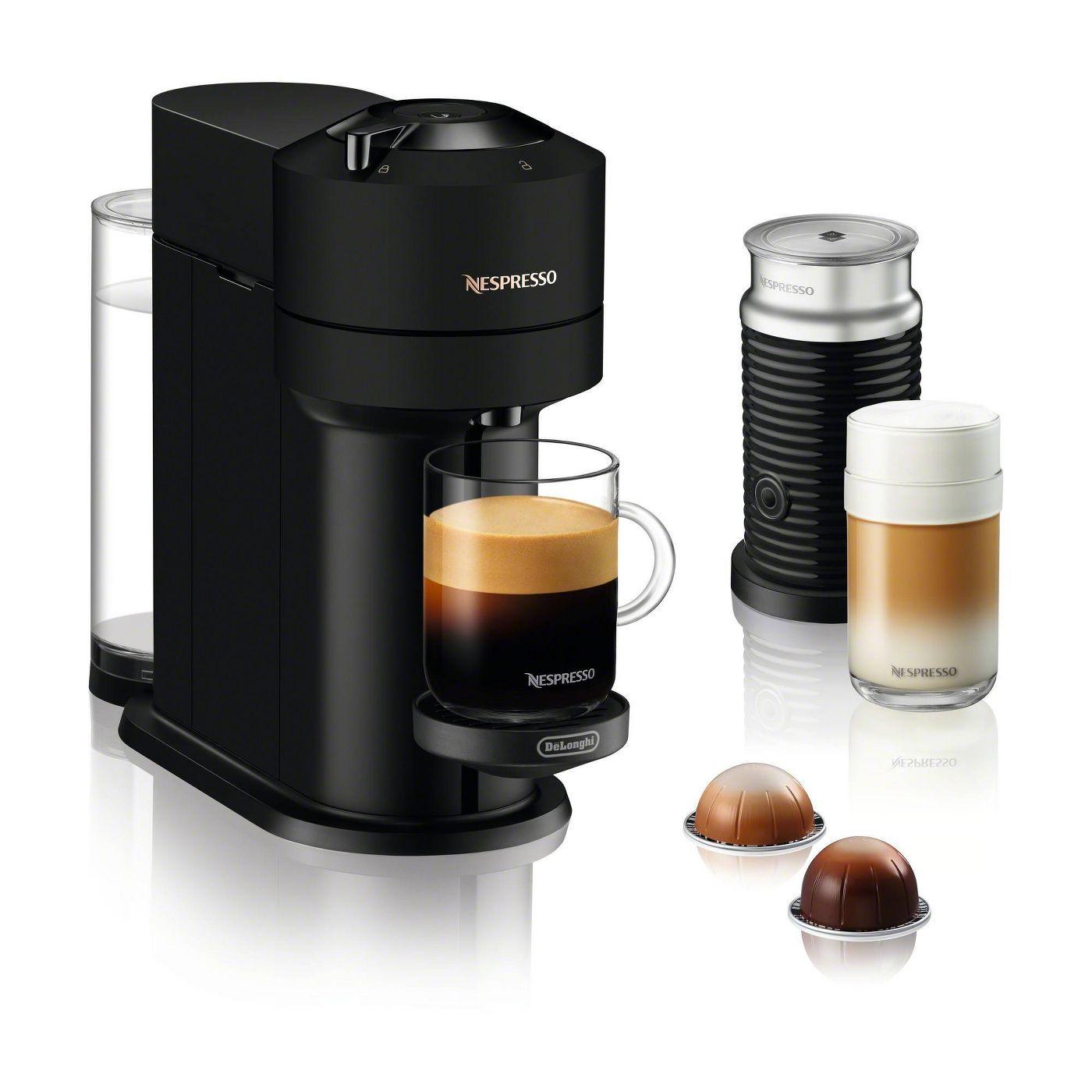 Nespresso Vertuo Next Coffee and Espresso Machine Bundle by De'Longhi - Limited Edition Black Matte - image 1 of 6