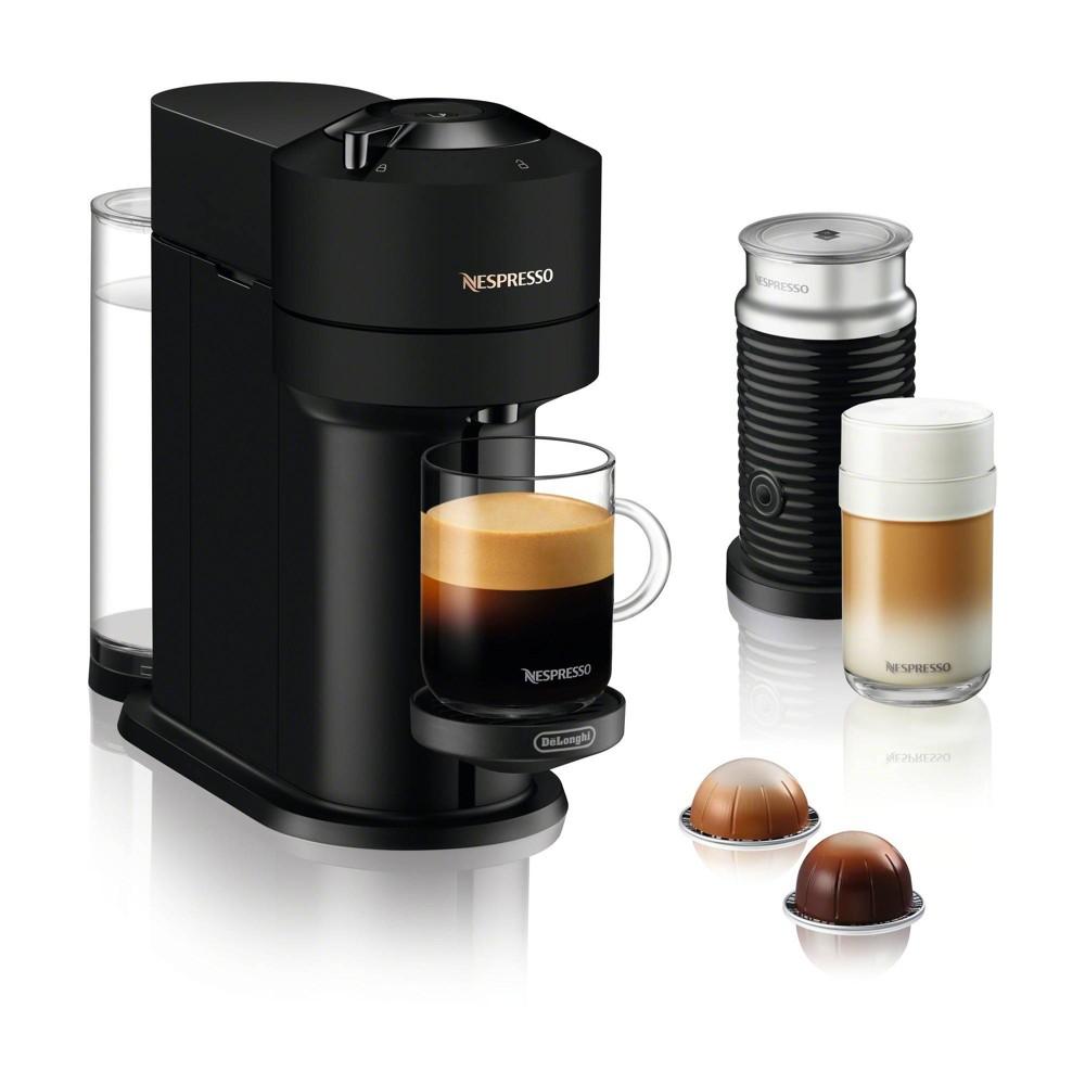 Nespresso Vertuo Next Coffee and Espresso Machine Bundle by De'Longhi - Black Matte
