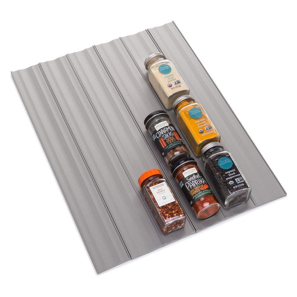 YouCopia 6pk In Drawer Spice Organizer Gray