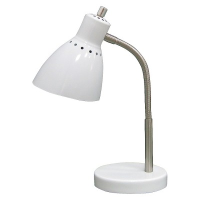 desk lamp white includes energy efficient light bulb room rh target com