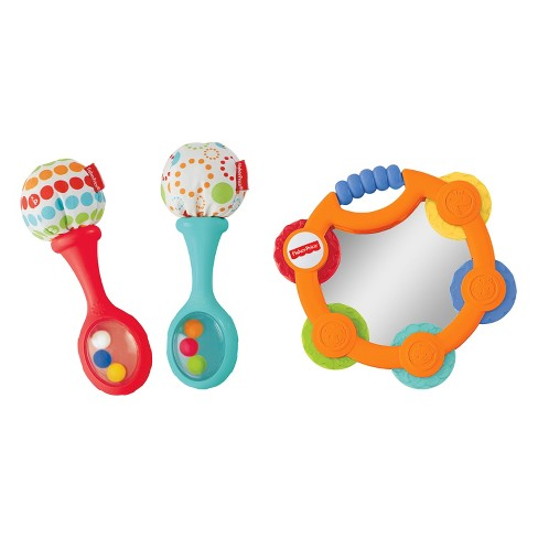 fisher price tambourine maracas gift set target