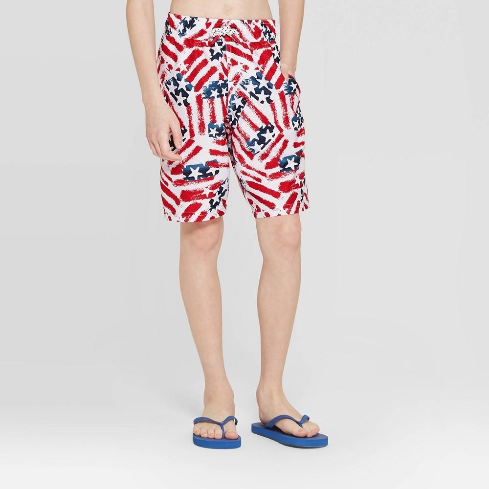 7406024f2da84 Boys Americana Swim Trunks Cat Jack Red XL