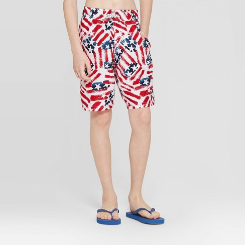 5664fd21bd Boys' Americana Swim Trunks - Cat & Jack™ Red XL Husky : Target