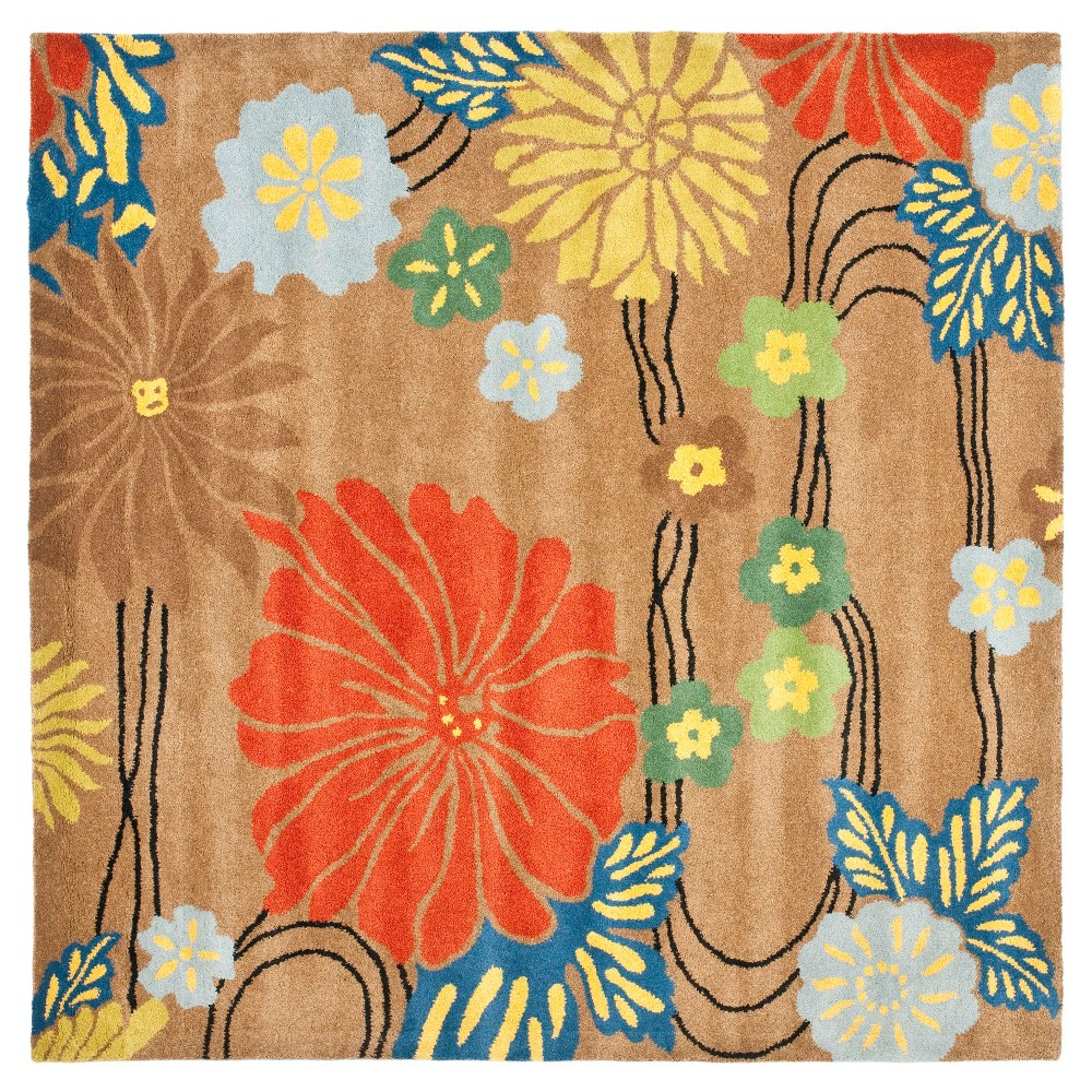 Oakland Area Rug - Brown / Multi (6' X 6' ) - Safavieh