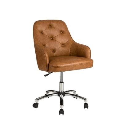 "40"" Fabric Gaslift Adjustable Swivel Office Chair - Glitzhome"