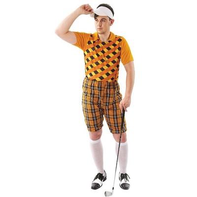 Angels Costumes Male Golfer Costume - Orange & Black