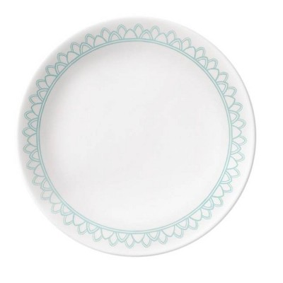 "Corelle 8.5"" Glass Delano Salad Plate Teal"