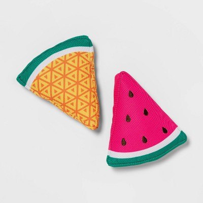 Watermelon and Pineapple Slice Dog Toy - 2pk - Sun Squad™