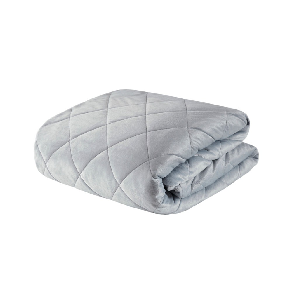 """Image of """"60""""""""x70"""""""" 12lb Luxury Mink Weighted Blanket Gray - Beautyrest"""""""